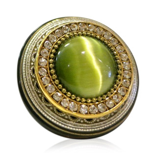 A Ring Eclectic Big Green Cateye