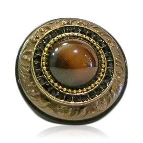 Eclectic Brown Goldstone Ring