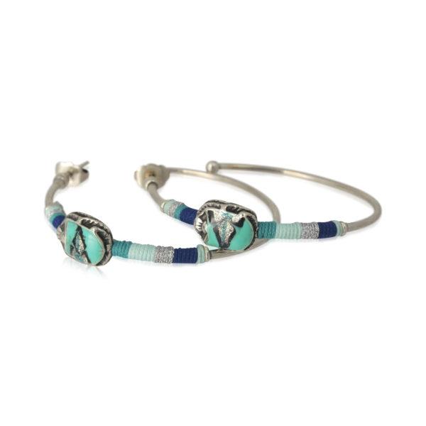 Gas Bijoux - Scarab Earrings Silver