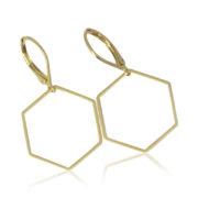 La Lacey - Hexagon Earrings No 9
