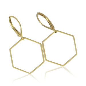 La Lacey - Hexagon Earrings No 9