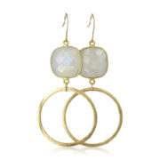 La Lacey 115 - Moonstone Hoops