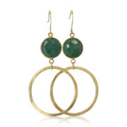 La Lacey 37 - Emerald Hoops