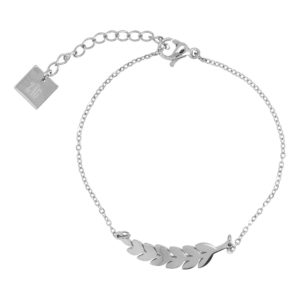 ZAG Bijoux - Silver Feather hearts Bracelet