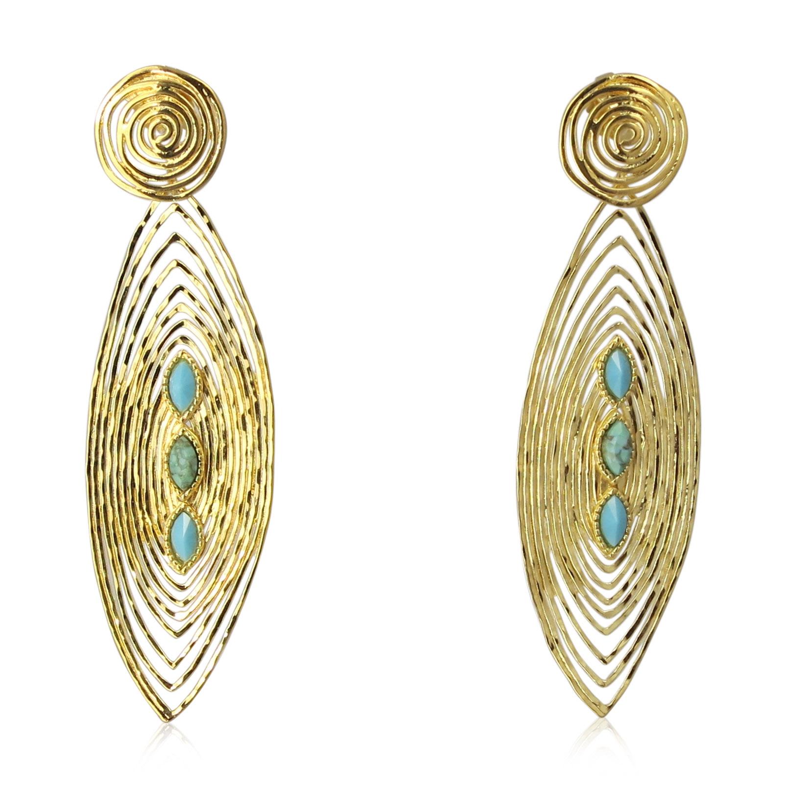 Gas Bijoux - Long Wave Earrings
