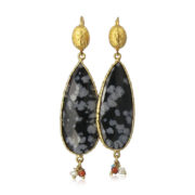 Gas Bijoux - Goutte Black Earrings