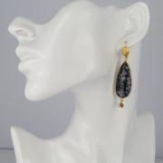 Gas Bijoux - Goutte Black Earrings model