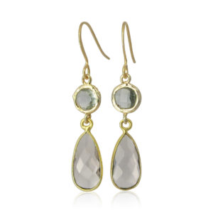 La Lacey - Smokey Topaz No 83 Earrings