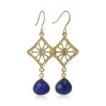 La Lacey 85 - Sapphire Quartz Earrings