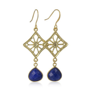 La Lacey 85 - Sapphire Quartz Earrings