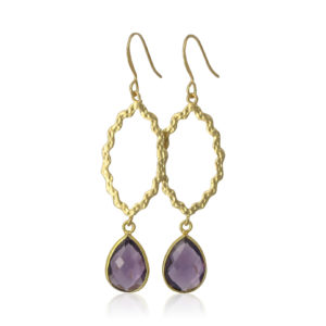 La Lacey 87 - Amethyst Marquise Earrings