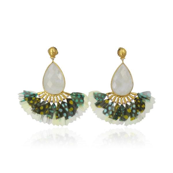 Gas Bijoux Serti Paon Earrings
