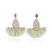 Gas Bijoux Serti Paon Earrings az