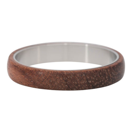 iXXXi Jewelry - Vulring - Silver Coloured - Wood Dark Brown - 4mm