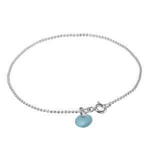 enamel-ball-chain-bracelet-lightblue-925s