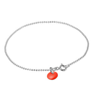 enamel-ball-chain-bracelet-red-925s