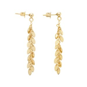 Une a Une - little leaf earrings