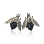 Gem Kingdom Bee Black Pearls