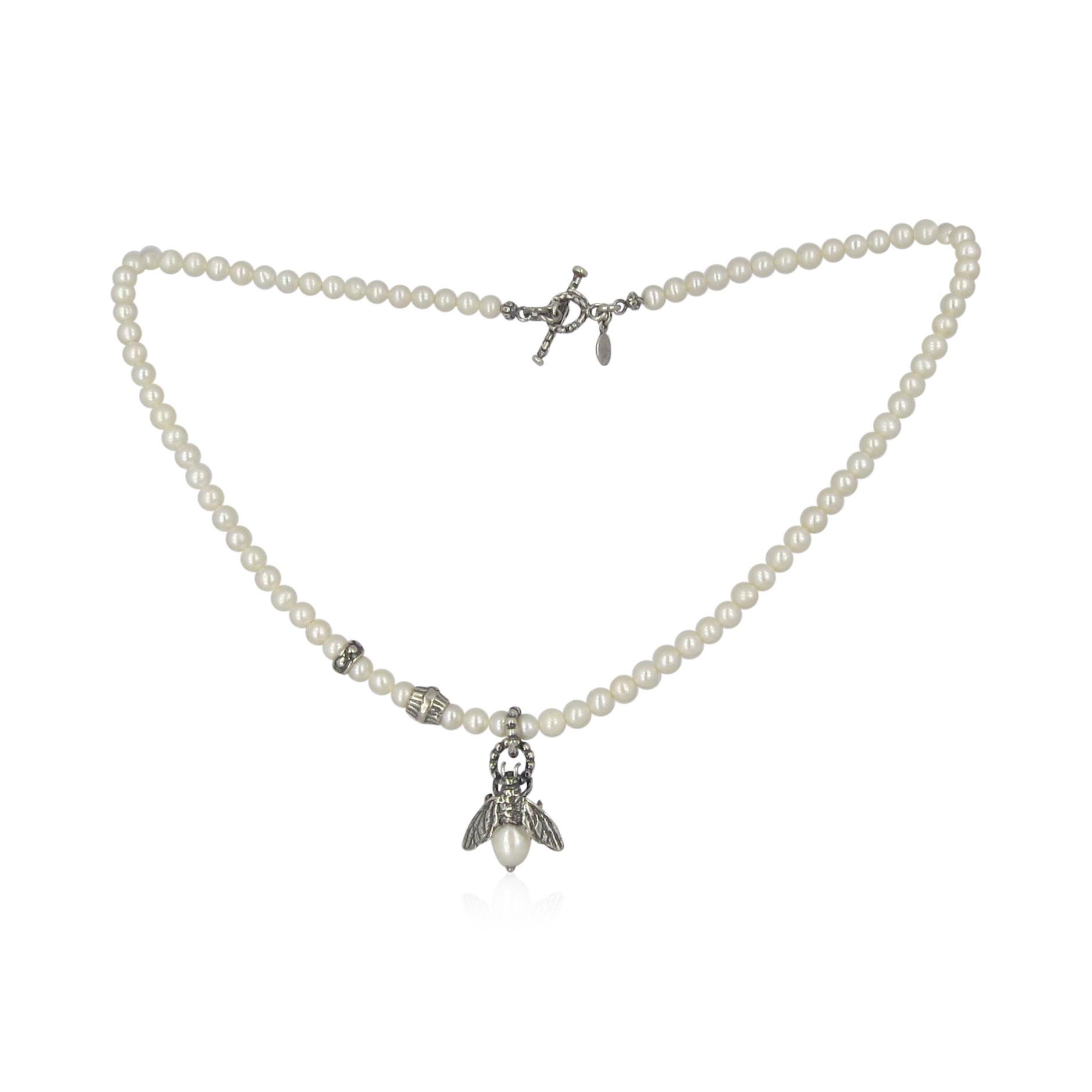 Gem Kingdom Bee Pearls Necklace