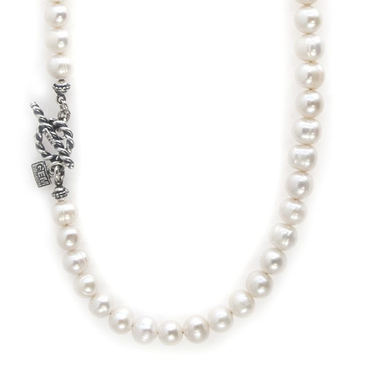 Gem Kingdom Chain White Pearls 01