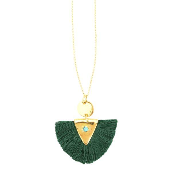 Une a Une - Green Necklace 01
