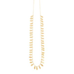 une a une leaf necklace long 01