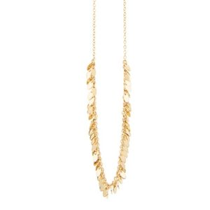 une a une leaf necklace short 01