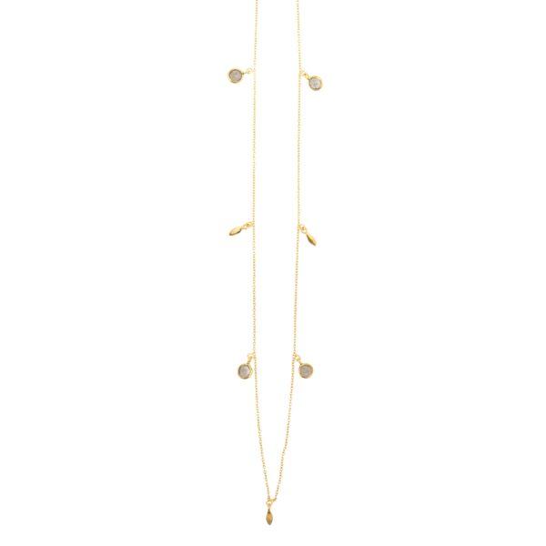 une a une necklace long labradorite 01