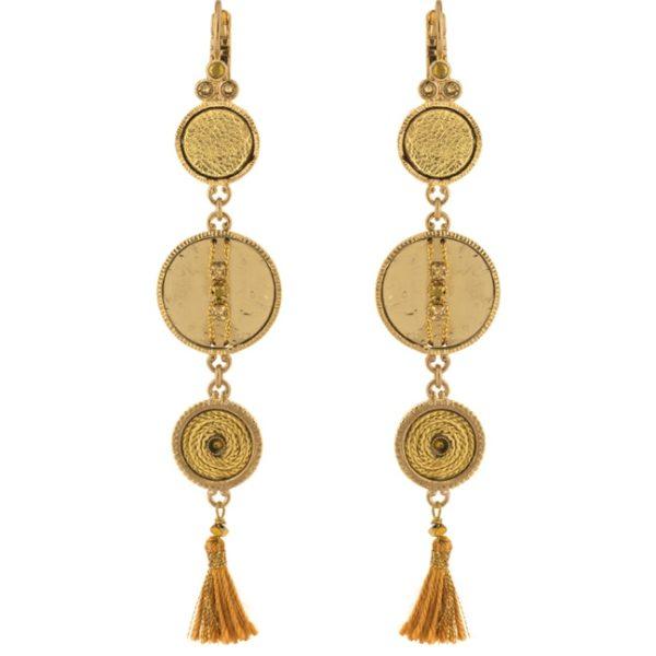 Satellite Paris - Gisele Earrings Gold Gis07do