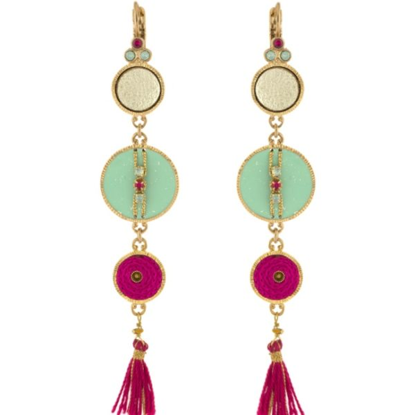 Satellite Paris - Gisele Earrings Multi Color Gis07do