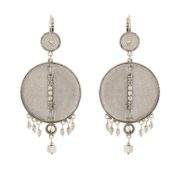 Satellite Paris - Luxury Earrings Silver Gis09do
