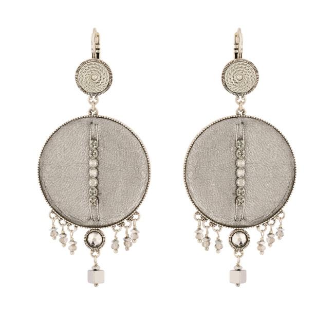 Satellite Paris - Luxury Earrings Silver Gis09do