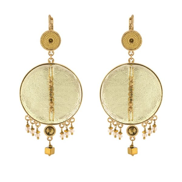 Satellite Paris - Luxury Earrings Gold Gis09do