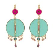 Satellite Paris - Luxury Leather Earrings Turquoise Gis09do