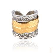 Gas Bijoux - Cancun Penna Ring Bicolor