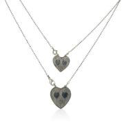 Gas Bijoux - Halsketting Big Hearts Silver
