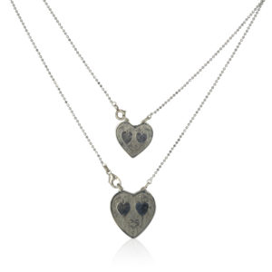Gas Bijoux - Halsketting Big Hearts Silver