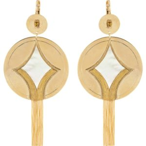 Satellite Paris Gold Earrings JUN09DO