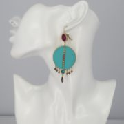 Satellite Paris - Luxury Earrings Turquoise Gis09do model