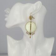 Satellite Paris - Luxury Earrings gold Gis09do model