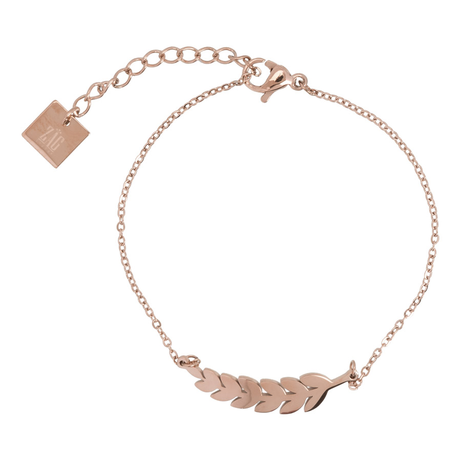 Zag Bijoux - Rosegold Leafs Bracelet