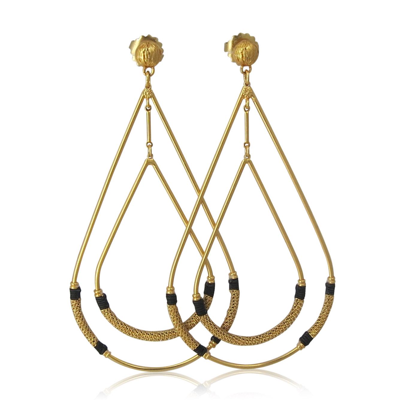 Gas Bijoux - Zanzibar Earrings Gold