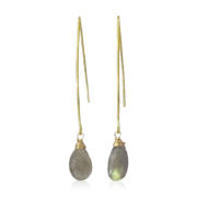 La Lacey 100 - Labradorite Earrings Hook