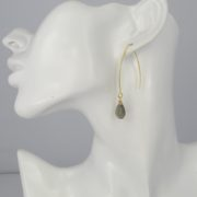 La Lacey 100 - Labradorite Earrings Hook model