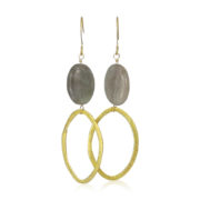 La Lacey 101 - Labradorite Earrings Oval