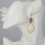 La Lacey 101 - Labradorite Earrings Oval model