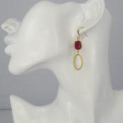 La Lacey 104 - Ruby Earrings Oval model