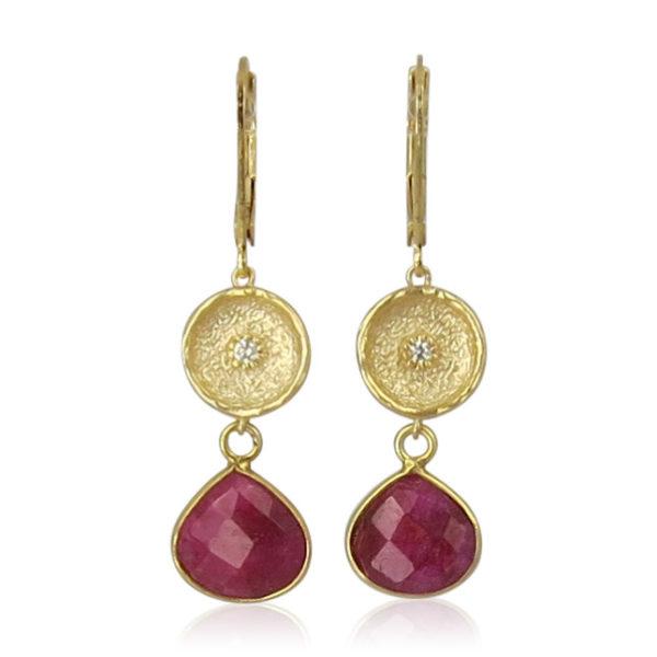 La Lacey 105 - Ruby Earrings Double