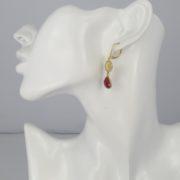 La Lacey 105 - Ruby Earrings Double model