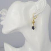 La Lacey 108 - Sapphire Earrings Double model